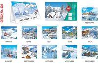 T408 Snow Scenery Table Calendar 2017