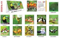 T414 Bird Table Calendar 2017
