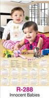 R-288 Innocent Babies Real Art Calendar 2017