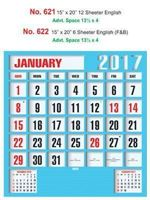 R622 English (F&B)  Monthly Calendar 2017