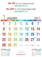 R637 English Monthly Calendar 2017