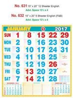 R632 English (F&B) Monthly Calendar 2017