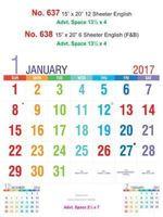 R638 English (F&B) Monthly Calendar 2017