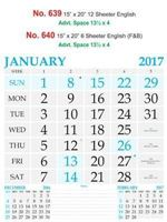 R640 English (F&B) Monthly Calendar 2017