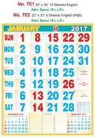 R702English (F&B) Monthly Calendar 2017