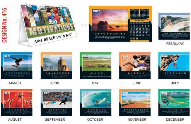 T416 Motivation Table Calendar 2017