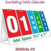 T419 Everlasting Table Calendar 2017