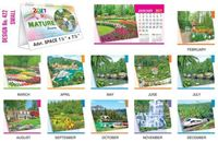 T422 Nature Scenery Table Calendar 2017