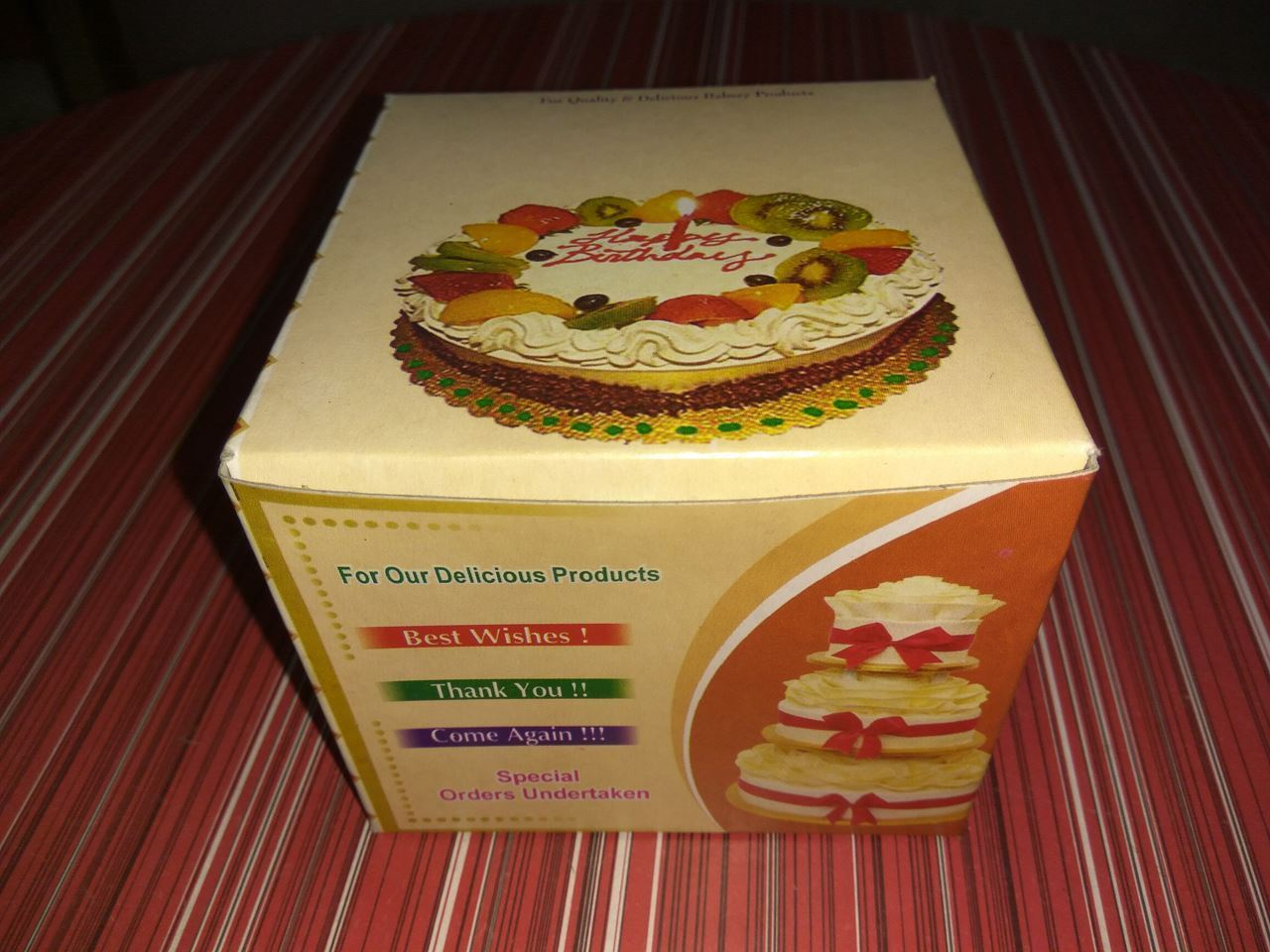 Picture of 4 Cake Box Printing