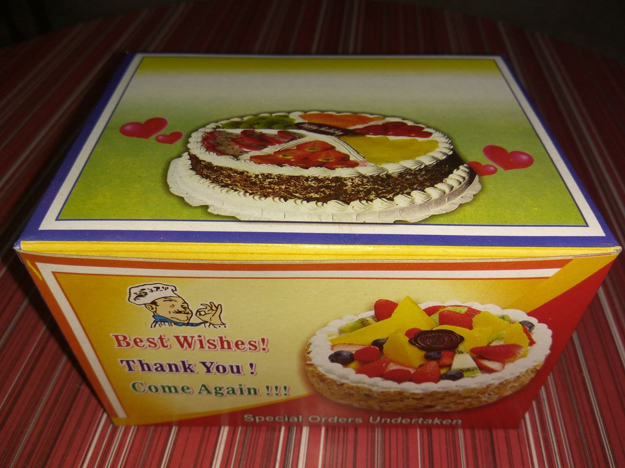 Picture of 6 Cake Box Printing