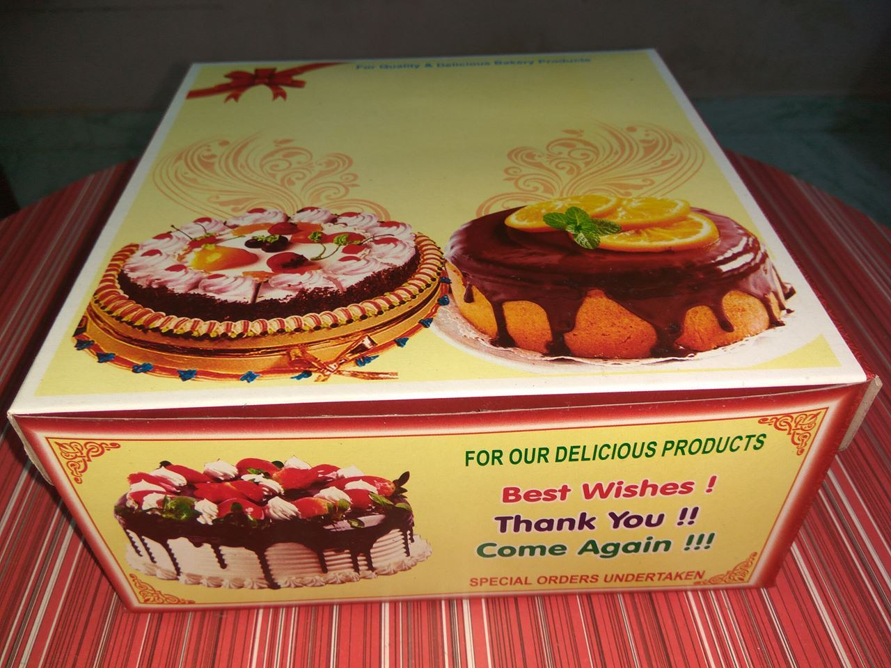 One KG Cake Box Printing