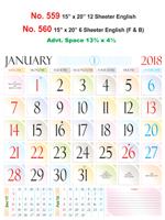 R560 English Monthly Calendar 2018 Online Printing