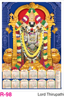 R-98 Lord Thirupathi Foam Calendar 2018