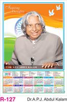 R-127 Dr.A.P.J Abdul Kalam  Foam Calendar 2018