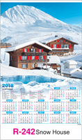 R-242 Snow Scenery	Real Art Calendar 2018