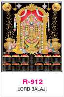 R-912 Lord Balaji  Real Art Calendar 2018
