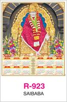 R-923 Sai Baba  Real Art Calendar 2018