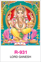 R-931 Lord Ganesh  Real Art Calendar 2018