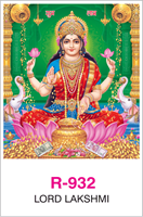 R-932 Lord Lakshmi  Real Art Calendar 2018