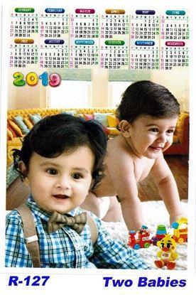 R-127 Two Babies Polyfoam Calendar 2019