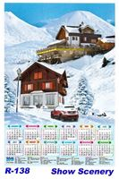 R-138 Snow Scenery Polyfoam Calendar 2019
