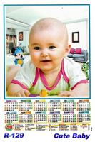 R-129 Cute Baby Polyfoam Calendar 2019