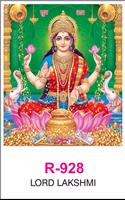 R-928 Lord Lakshmi Real Art Calendar 2019