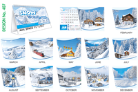 T407 Snow World Table Calendar 2019