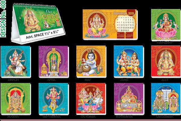T408 Gods Table Calendar 2019