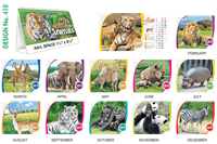 T410 Animals Table Calendar 2019