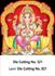 D-321 Lord Ganesh Daily Calendar 2019