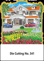 D-341 House Scenery Daily Calendar 2019