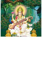P-1047 Lord Sarswathi  Daily Calendar 2019
