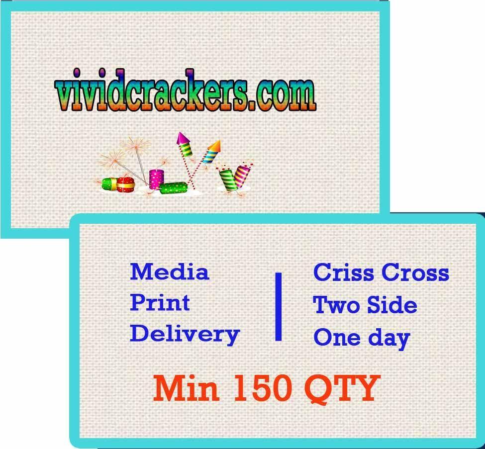 Criss Cross Card Double Side (Min. 150 QTY)