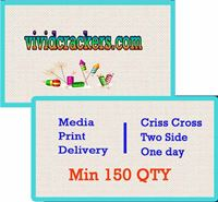 Criss Cross Card Double Side (Min. 150 QTY)