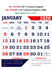 V708  English (F&B) Monthly Calendar 2020 Online Printing