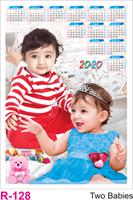 R 128 Two Babies  Polyfoam Calendar 2020 Online Printing