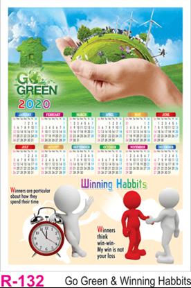R 132 Go Green Winning Habits  Polyfoam Calendar 2020 Online Printing