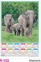 R 133 Elephants  Polyfoam Calendar 2020 Online Printing