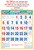 R687 Tamil (F&B) Monthly Calendar 2020 Online Printing