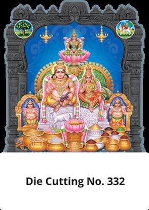 D 332 Lakshmi Kuberar Die Cutting Daily Calendar 2020 Online Printing