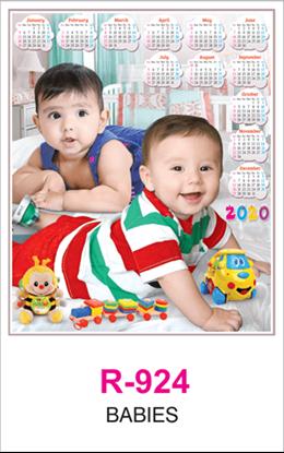 R 924 Babies Real Art Calendar 2020 Printing
