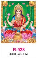 R 928 Lord Lakshmi Real Art Calendar 2020 Printing