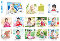 T 409 Cute Baby   - Table Calendar With Planner Online Printing 2020