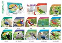 T 414 Wonder full Birds   - Table Calendar With Planner Online Printing 2020