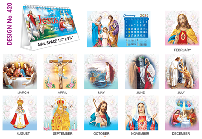 T 420 Jesus  - Table Calendar With Planner Online Printing 2020