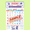 Monthly Calendar Two Colour Party Advertisement Printing