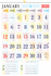 """V813 13x19"""" 12 Sheeter Monthly Calendar 2020"""