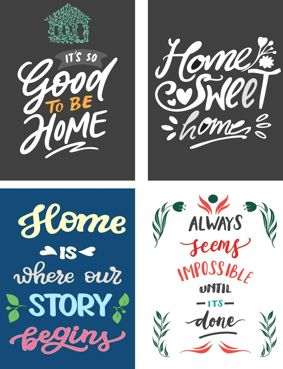P1010 Motivational & Sweet Home Posters