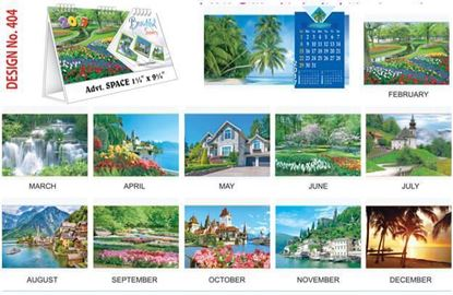 T404 Beautiful Scenery Table Calendar 2017